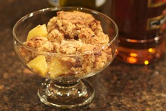 Pecan Crusted Apple Pear Crisp with Tuaca