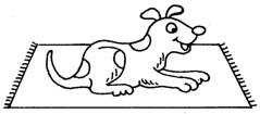 dog on mat coloring sheets flickr