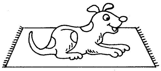 dog on mat | Coloring Sheets | Flickr