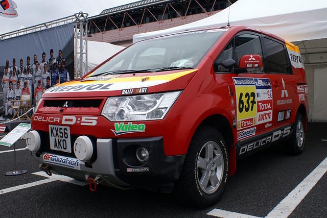 Mitsubishi Delica D Support Vehicle Dakar Rally Flickr - Mitsubishi support