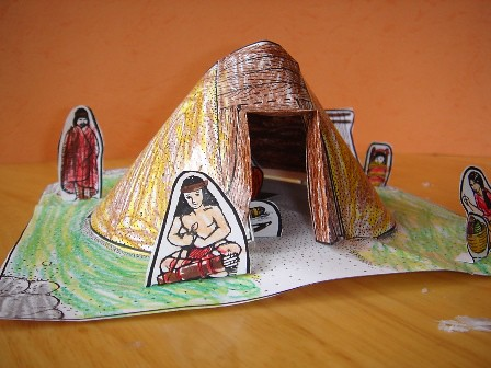 Navaho hogan diorama | from Winter Promise AS1 homeschool ...