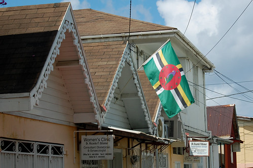 Dominica flag in Roseau | by desertdutchman