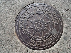 Hastings manhole, sea front | by melita_dennett
