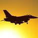 F-16 Over The Sun
