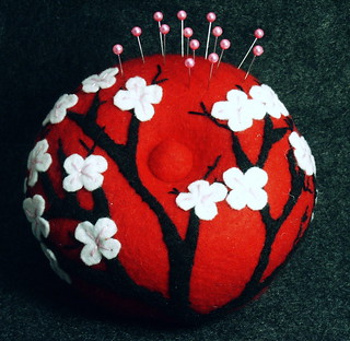 Japanese cherry blossom Pincushion | by verybigjen
