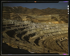 View of the Utah Copper Company open-pit mine workings at Carr Fork, as seen from the railroad, Bingham Canyon, Utah  (LOC) | by The Library of Congress