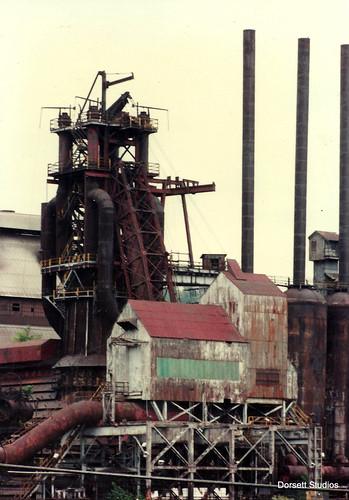 Number 7 Blast Furnace : U s steel duquesne works number blast furnace a