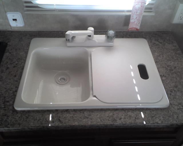 Kitchen sink in our new trailer   2008 Skyline Nomad 171   Flickr