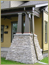 Craftsman Tapered Column To See More Visit Www