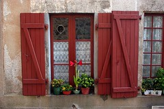 Red Shutters, Rochechouart, Limousin, France | by curreyuk