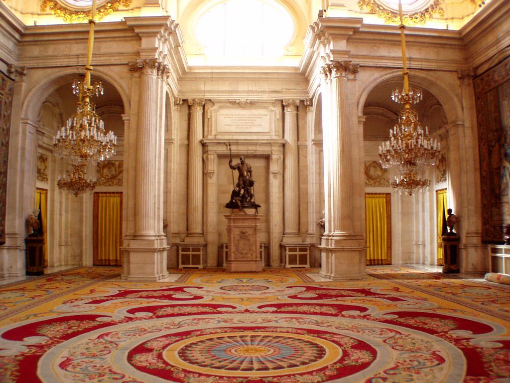 Sal n de columnas palacio real de madrid the hall of colu flickr - Salon de the palais royal ...