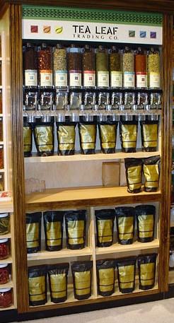 loose tea display wooden tea cabinet offering bulk tea fr flickr