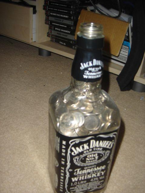 Full Whiskey Bottle Drink