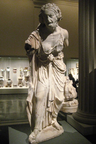 Nyc Metropolitan Museum Of Art Marble Statue Of An Old
