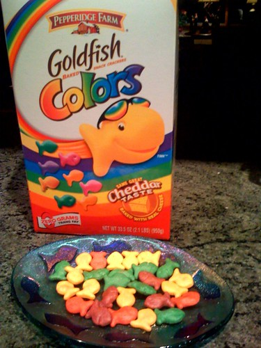 Goldfish Colors These Scare Me A Little But They Taste