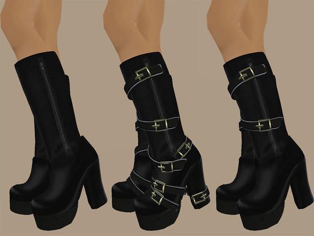 J's Goth BeltBoots   fashionlabyrinth.blogspot.com/2008/02 ... Sims 1