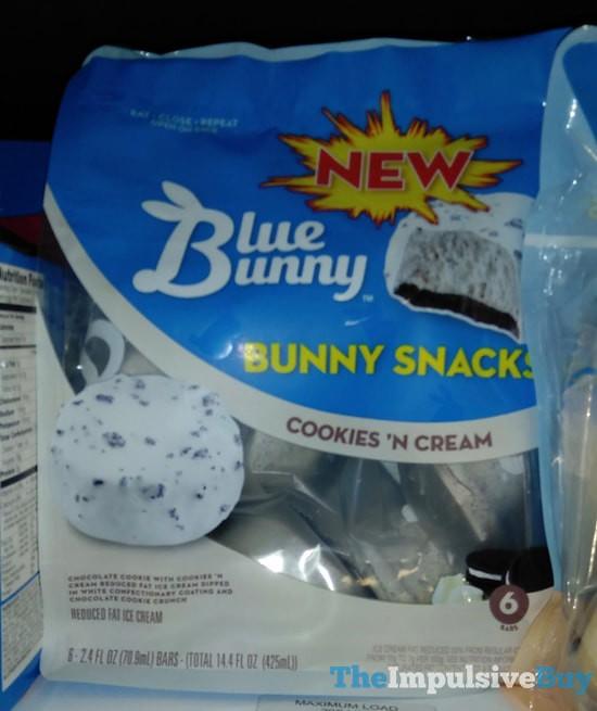 blue bunny cookie  u0026 39 n cream bunny snacks