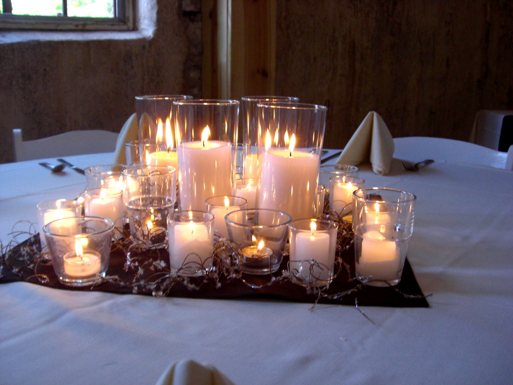 wedding table decoration ideas candles joe and s candle only wedding centerpieces aren t 1173