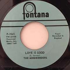 THE MINDBENDERS:A GROOVY KIND OF LOVE(LABEL SIDE-B)