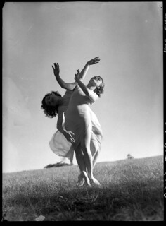 Emmy Towsey (Taussig) and Evelyn Ippen, Bodenwieser Ballet in Centennial Park, Sydney, ca. 1939 / Max Dupain | by State Library of New South Wales collection