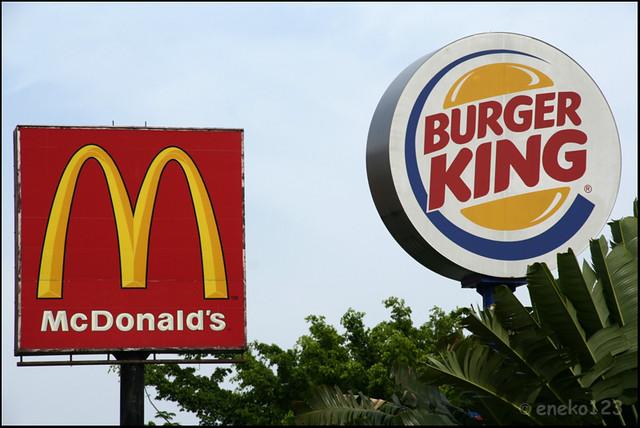 Mcdonalds and burger king job design