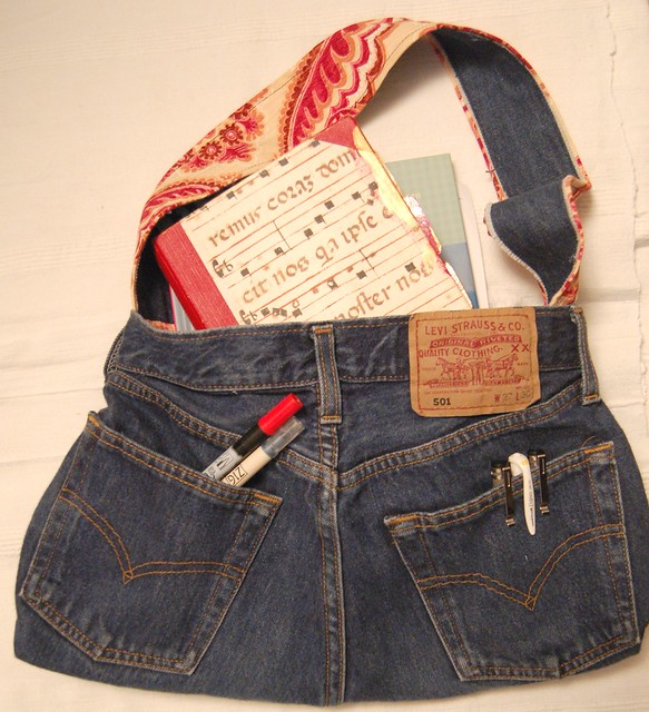 Jeans handbag by me