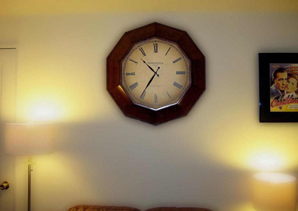 Wall Clock Living Room Antique