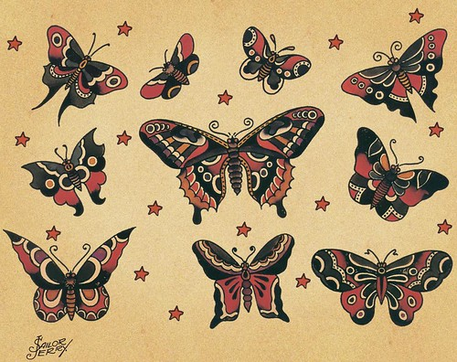 Sailor Jerry butterflies | by FAMILIAR STRANGERS Tattoo Studio - Singapore