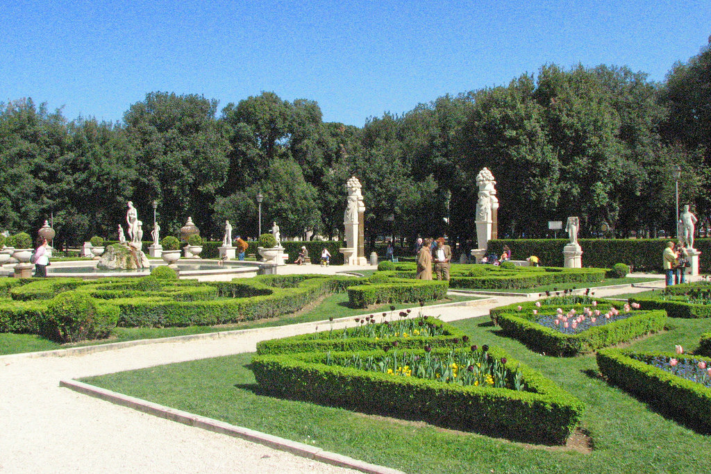 Roma villa borghese gardens villa borghese is a large for Gardens and villa