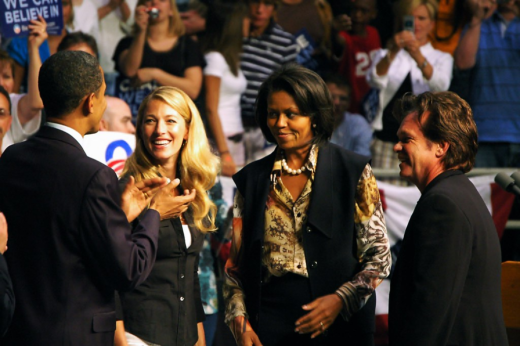 barack obama  elaine mellencamp  michelle obama  john mell