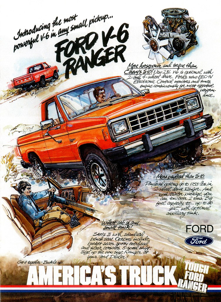 1983 Ford Ranger V6 (USA) | A mid-year addition to the ...