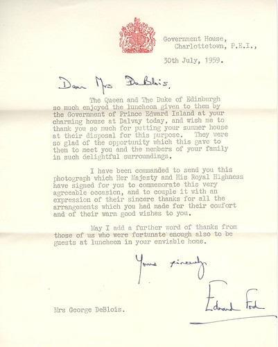 Letter from Queen Elizabeth II and Duke of Edinburgh | Flickr