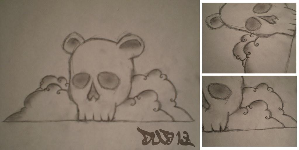 Teddy Bear Skull Drawing Teddy Bear Skull Sketch