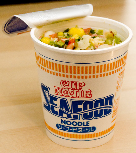 garden noodle Cup Sharing!  Flickr Noodle     Nissin Seafood Photo