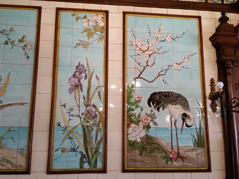 C-G tiles iris and stork