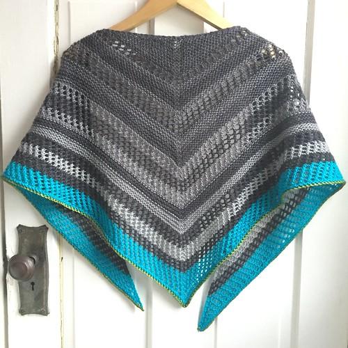 Reyna shawl knit by Poppyprint