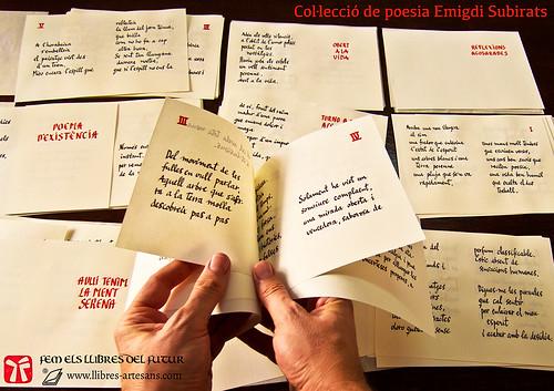 Plecs llibres manuscrits, poemes Emigdi Subirats