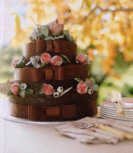 Rich Chocolate Wedding Cake