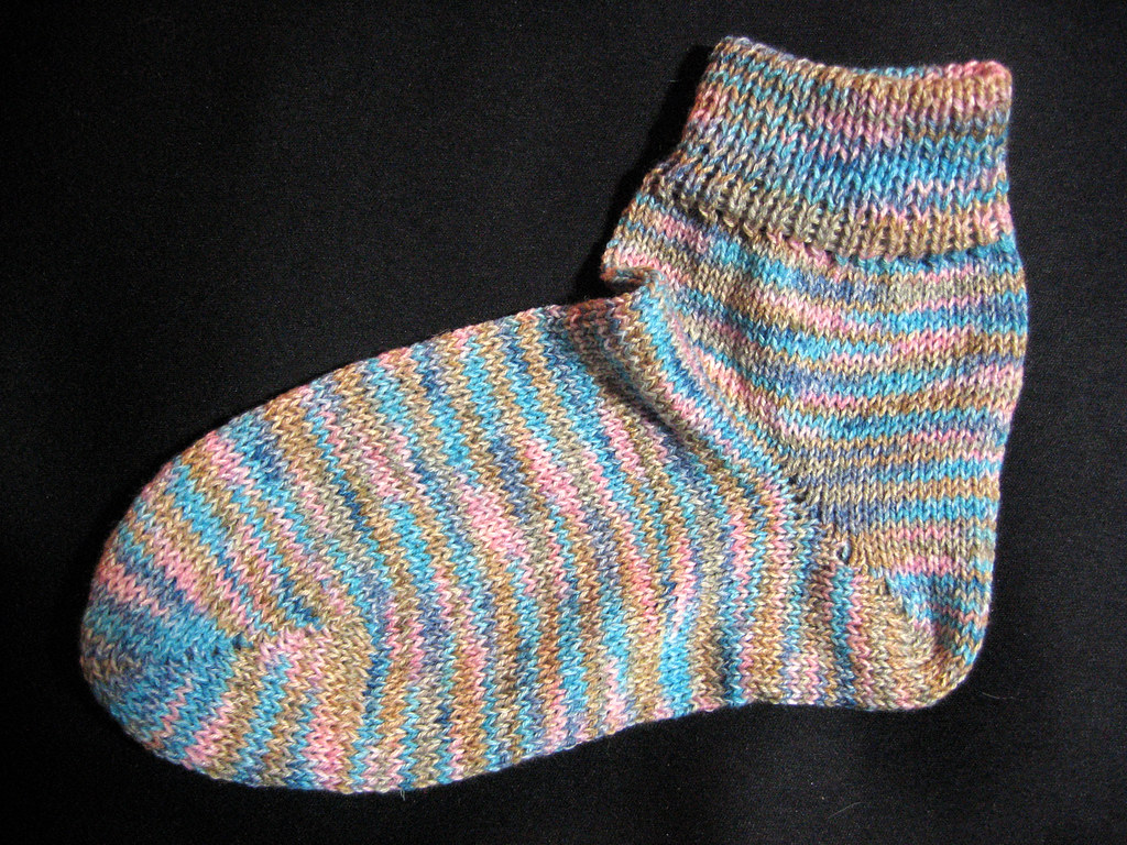 Knitting Pattern For Ipod Sock : Machine-knit (flatbed) sock I dont have a ribber, so Ive? Flickr