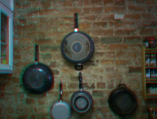 Hanging Pans In A Small Kitchen