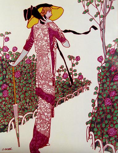 Vintage Fashion Illustration J Gose 1913 Lee Sutton