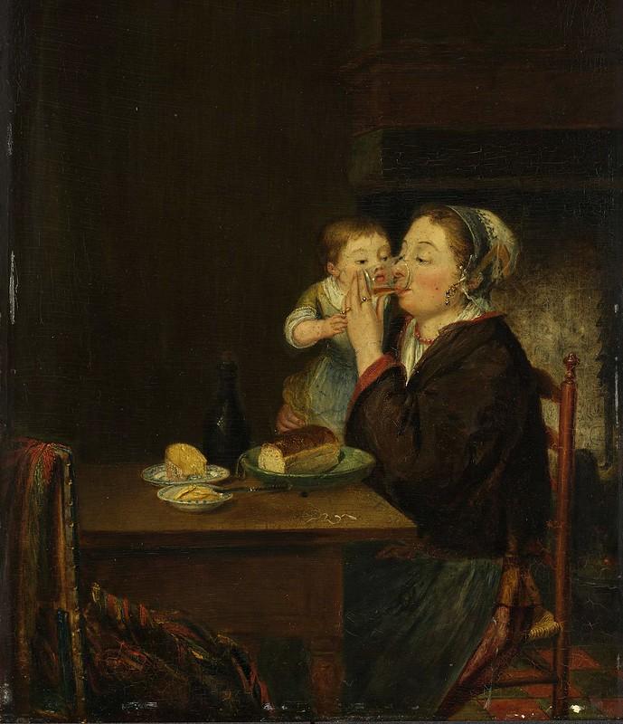 Louis Bernard Coclers - Moeder met kind (1794)