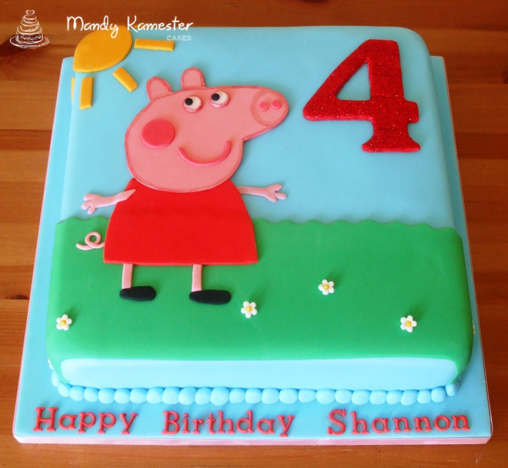 How To Make A Simple Peppa Pig Birthday Cake