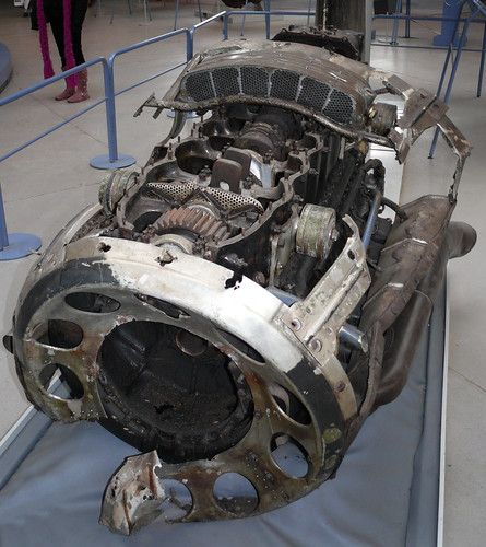German WWII Heinkel HE 111 E engine, Duxford. | by RuthannOC