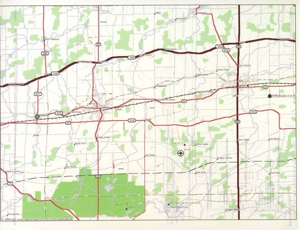 Albion Map   Map of our area our house location.
