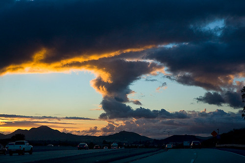 Sunset as the storm clears above the 101 and 23 Freeways | by embracelife