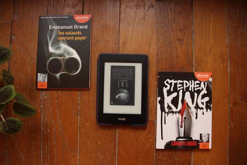 :Les salauds devront payer d'Emmanuel Grand / Le Syndrome E de Franck Thilliez / Carnets noirs de Stephen King
