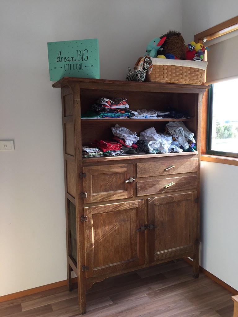 100 year old cabinet for ag's clothes
