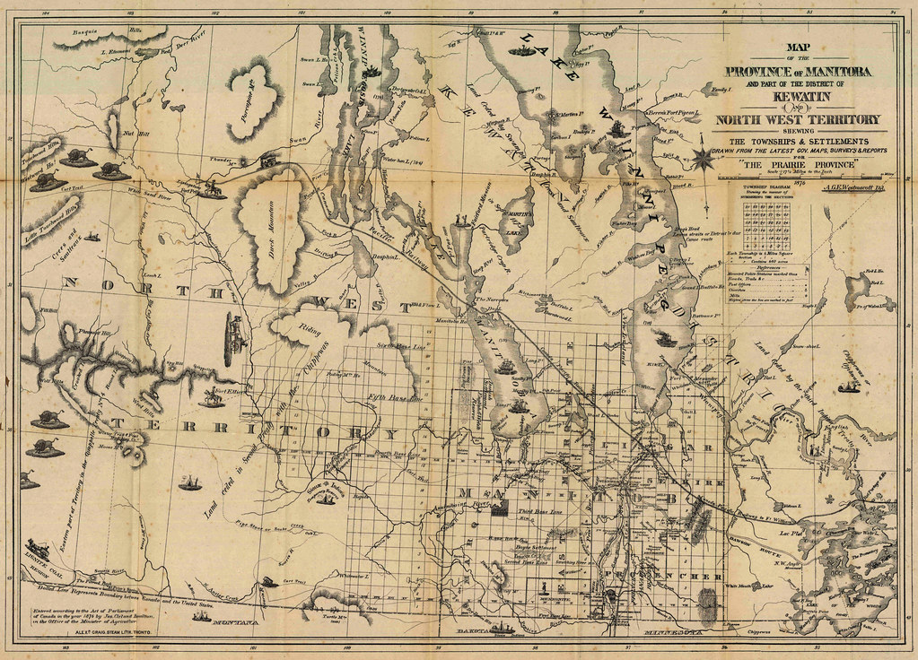 Map Of The Province Of Manitoba And Part Of The District O Flickr - Map of manitoba