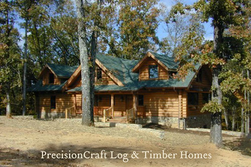 Precisioncraft log home located in mississippi custom Mississippi custom home builders